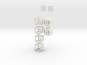 Partially Hollow 1x2x3 in White Natural Versatile Plastic