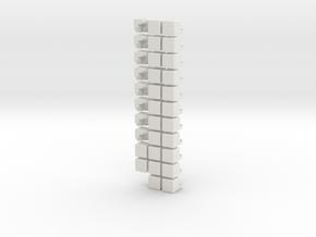 The 2x2 Cross cube in White Natural Versatile Plastic