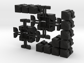 Crazy 2x2 Cross Cube in Black Strong & Flexible