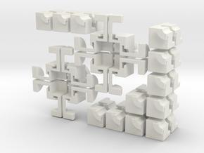 Crazy 2x2 Cross Cube in White Natural Versatile Plastic
