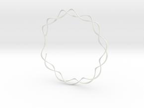 spiral_bracelet_001.dae in White Strong & Flexible