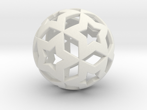 STAR BALL in White Strong & Flexible
