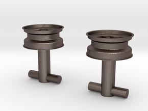 Fuchs wheel cufflink in Stainless Steel