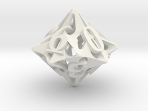Pinwheel d10 in White Natural Versatile Plastic