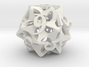 Pinwheel d12 in White Natural Versatile Plastic