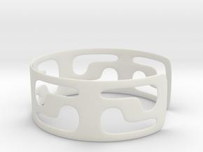 Bracciale05_d70mm in White Natural Versatile Plastic
