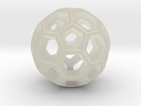 Soccer Ball Pendant in Transparent Acrylic