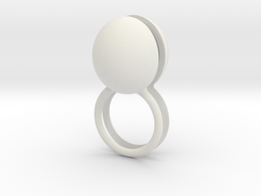 scharnierring met stenen in White Strong & Flexible
