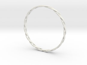 Twist Bangle in White Natural Versatile Plastic