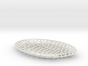 Tectonic:Plate in White Natural Versatile Plastic