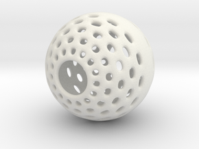 Malabor Halo-Hole Ball in White Natural Versatile Plastic