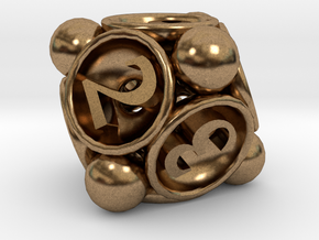 Spore d8 in Natural Brass