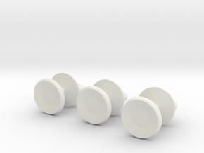Mazeball Padlock Studs in White Natural Versatile Plastic