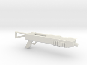 Shotgun for wargaming in White Natural Versatile Plastic