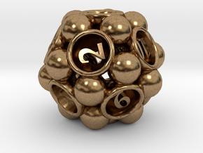Spore d12 in Natural Brass