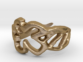 Draw your own ring in Polished Gold Steel