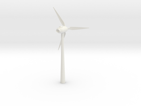 Wind Turbine Test in White Natural Versatile Plastic