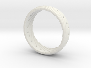 Wave Ring in White Strong & Flexible
