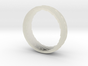 Wave Ring in Transparent Acrylic