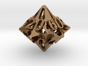Pinwheel Decader d10 in Natural Brass