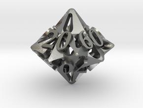 Pinwheel Decader d10 in Natural Silver