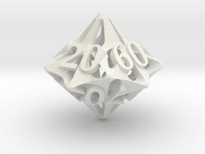 Pinwheel Decader d10 in White Natural Versatile Plastic