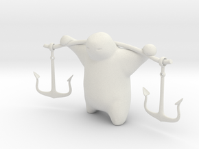 Anchor Guy in White Natural Versatile Plastic