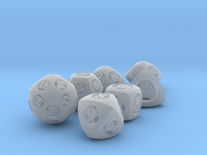 Overstuffed Dice Set with Decader in Smooth Fine Detail Plastic