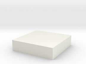 solid test cube.stl test in White Natural Versatile Plastic