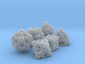 Spore Dice Set in Smooth Fine Detail Plastic