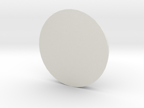 1 Inch Base Round in White Strong & Flexible