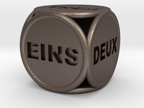 Text Dice 2    16mm in Stainless Steel