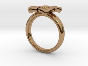 ring flower s 56 in 14k Rose Gold Plated Brass