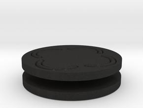 vortex buttons round in Black Acrylic