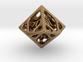Cage Decader d10 in Natural Brass