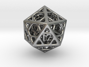 Cage Die20 in Natural Silver