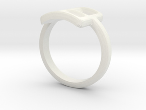 Neda''s Ring in White Natural Versatile Plastic