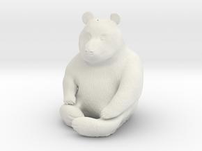 Panda Statuette in White Natural Versatile Plastic