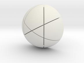 Kugel_4 in White Natural Versatile Plastic