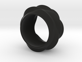 Tree-Ear Light Ring (thinner) in Black Strong & Flexible