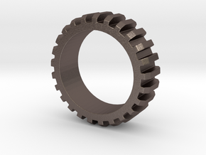Sprocket ring 1 in Polished Bronzed Silver Steel