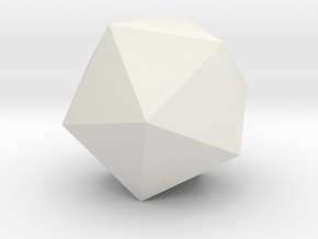 icosahedron-l in White Natural Versatile Plastic
