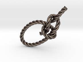 Bowline 4in in Polished Bronzed Silver Steel