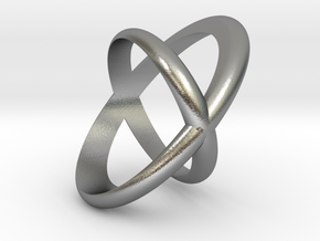 Cross Ring  in Natural Silver