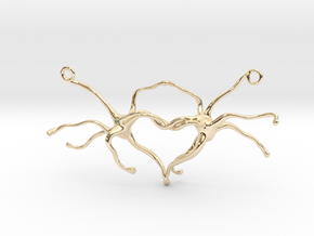 Synapse heart Pendant in 14K Yellow Gold