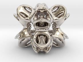 Octo Star Tunnels in Rhodium Plated Brass