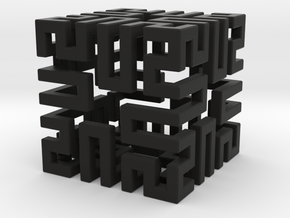 Springy Cube in Black Strong & Flexible