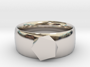 squashed crystal ring in Platinum