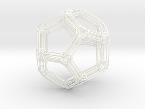 Dodecahedron Frame in White Processed Versatile Plastic