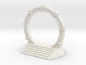 Gate Game Token (2cm) in White Natural Versatile Plastic